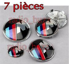 KIT 7 Badge Embleme LOGO M M3 M5 MTEC BMW - Capot+Coffre+Volant + 4 Cache Jante