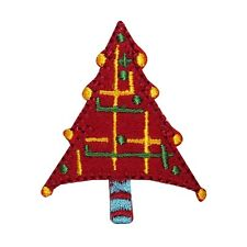 ID 8166A Christmas Tree Holiday Decor Design Embroidered Iron On Applique Patch