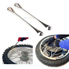 (2) New Spoon Tire Lever Tool Motorcycle Bike Tire Iron Rim Changing Tool w Case