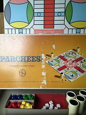 PARCHEESI Vintage Board Game Complete Gold Seal Edition - 1964