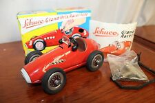 1930-40s Original Schuco Grand Prix Racer 1070 Toy Car Western Germany Wind up