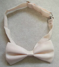 "PALE PEACH MENS DICKIE BOW TIE ADJUSTABLE BOWTIE NEW ADJUSTABLE 14"" TO 19"""