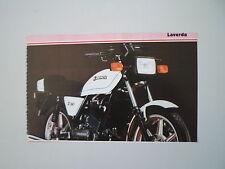 - RITAGLIO DI GIORNALE ANNO 1982 - MOTO LAVERDA LZ 125