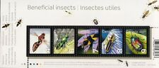 Canada Stamps -Souvenir sheet of 5 -2010, Beneficial Insects #2410a -MNH