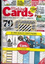 Making Cards December 2016 Card Making Magazine Includes 31 Quality Craft Papers