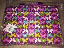 Vera Bradley Neoprene Laptop Case Flutterby Butterflies NWT