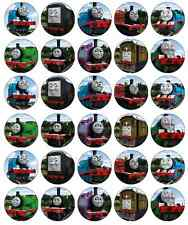 30 x Thomas The Tank Engine Cupcake Toppers Edible Wafer Paper Fairy Cake Topper