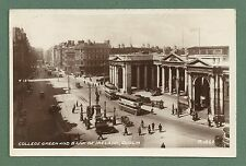 1946 RP PC COLLEGE GREEN & BANK OF IRELAND, DUBLIN - BUSES, PEOPLE CARS ETC