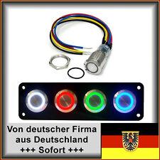 18mm Drucktaster LED rot als Schalter Edelstahl Wasserdicht IP67 mit Kabel