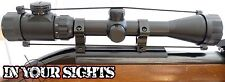 Air rifle scope 3-9x40 / airgun riflescope + 11mm mounts. rouge / vert réticule.