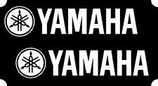 2 Yamaha 200mm White Decals Sticker Motogp, MotoCross R6 R1 YZF Quad
