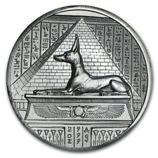 2 oz 999 Silver Fine Lord of the Unterwelt Anubis - Ultra High Relief - 3D Ef