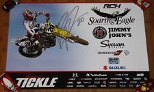 2015 Broc Tickle signed RCH Suzuki RM-Z450F AMA Supercross Motocross poster