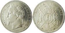 NAPOLEON  III   5  FRANCS  ARGENT  TÊTE  LAURÉE  1869  BB  STRASBOURG  QUALITÉ