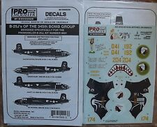 1/48 Pro Modeler Decals Monogram/ Revell B-25J's 345th BG. AIR APACHES