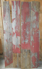 4-Reclaimed Red Barn White Pine Boards Wood Sign Craft Lumber Resaw Stock