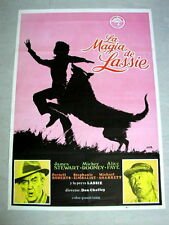 THE MAGIC OF LASSIE Original COLLIE DOG Movie Poster JAMES STEWART MICKEY ROONEY