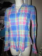 L.O.G.G. LABEL OF GRADED GOODS BY H&M Multi Colored Plaid Long Sleeve Shirt SZ 4