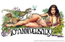 Cavewoman print 10th Anniversary signed by Budd Root