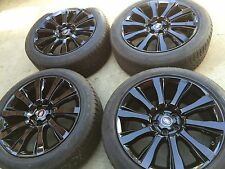 """21"""" NEW BLACK 2015 OEM RANGE ROVER SUPERCHARGED AUTOBIOGRAPHY WHEELS TIRES TPMS."""