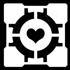 Companion Cube Portal Half Life Gamer Window Auto Car Decals Stickers