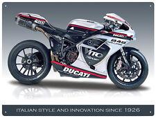 Ducati 848 Evo Motorcycle Metal Wall Art Sign