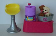 BARBIE Pet Vet Animal Doggy Bath Two Dogs, Barbie Chair Salon Stool