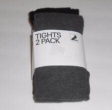 H&M Ladies Two (2) Pack Fine Knit Tights Gray & Black Large (L) NWT