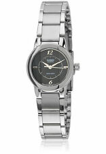 Casio LTP1230D-1C Ladies Stainless Steel Round Casual Dress Watch Black Dial