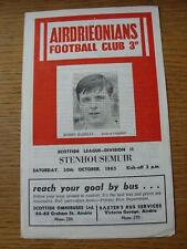 30/10/1965 Airdrieonians v Stenhousemuir  (Item in very good condition, no obvio