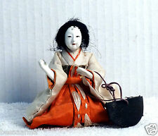 """Antique 3.75"""" Pre-1912 Asian Japanese Lady-in-Waiting Hina Doll  AAD4161415f"""