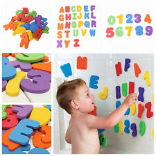 36pcs Baby Kids Toddler A-Z 0-9 Foam Letters Numbers Floating Bath tub Stick Toy