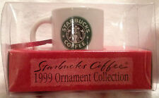 MINT STARBUCKS COFFEE 1999 ORNAMENT COLLECTION MERMAID SIREN HOLIDAY MUG CUP