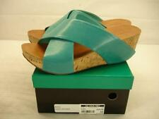 NIB womens 10 M chocolat blu mars aqua leather cork wedge platform sandals shoes