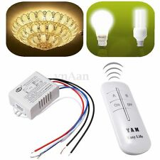 220V-245V 2 Way ON/OFF Digital Wireless Remote Control Light Lamp Wall Switch