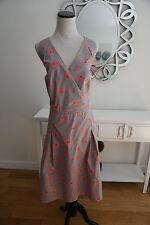 New Boden Halter Flare Dress Cotton Size UK 20L US 16L BEYOU*