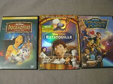 Disney DVD Lot Ratatouille, Pocahontas, Treasure Planet