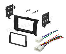 2007-2011 TOYOTA TUNDRA SEQUOIA DOUBLE DIN DASH KIT & WIRE HARESS STEREO RADIO