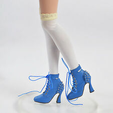 "Sherry Shoes Boots for BJD Delilah Noir Ellowyne Wilde 16""Tonner Doll Blue"