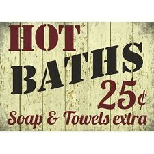 Retro Shabby Chic Bathroom Hot Baths Soap & Towels Poster Sumbox Poster 0216