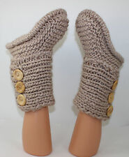 PRINTED KNITTING INSTRUCTIONS- 3 BUTTON CHILDRENS SLIPPER BOOTS KNITTING PATTERN