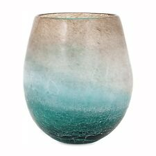 IMAX Worldwide 89351 Luna Blue Frosted Short Vase
