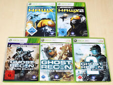 5 XBOX 360 SPIELE SAMMLUNG TOM CLANCY'S GHOST RECON 2 FUTURE HAWX H.A.W.X. 1 2