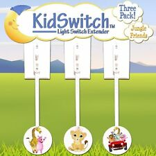 Kidswitch Light Switch Extender Jungle  3 Pack FREE SHIPPING
