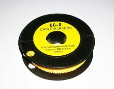 10X100pcs EC-O Yellow Cable Wire Markers Letter  0 - 9  Provide Tracking Number