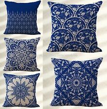 wholesale 5pcs Chinese porcelain blue white decorative pillow cushion covers