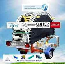 4 Bed Mobile Trailer Mounted Bungee Trampolines, FULLY ADIPS DESIGN REVIEW