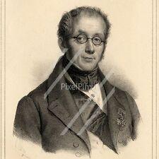 Portrait de François Joseph Bosio - Lithographie originale XIXème