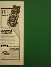 10/1961 PUB ROLLEI MAGIC AUTOMATISCH PHOTOGRAPHIEREN APPAREIL PHOTO CAMERA AD