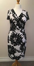 Black and White Crossover Dress - Size 14 - M&Co